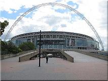 TQ1985 : New Wembley Stadium and Arch from Olympic Way by David Hawgood