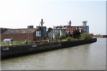 TG5107 : Disused wharf on the River Bure, Great Yarmouth by Glen Denny