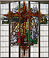 TQ3385 : St Paul's Church, Stoke Newington Road - Stained glass window by John Salmon