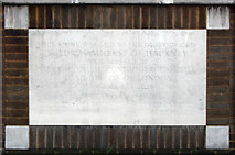 TQ3385 : St Paul's Church, Stoke Newington Road - Foundation stone by John Salmon