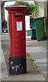TQ1977 : Edward VII Pillar Box, Strand Green, Kew by Christine Matthews