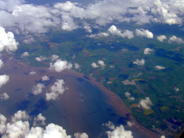 Solway coast from the air by Thomas Nugent