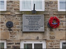 NY9038 : War Memorial plaque, Westgate Village Hall by Andrew Curtis