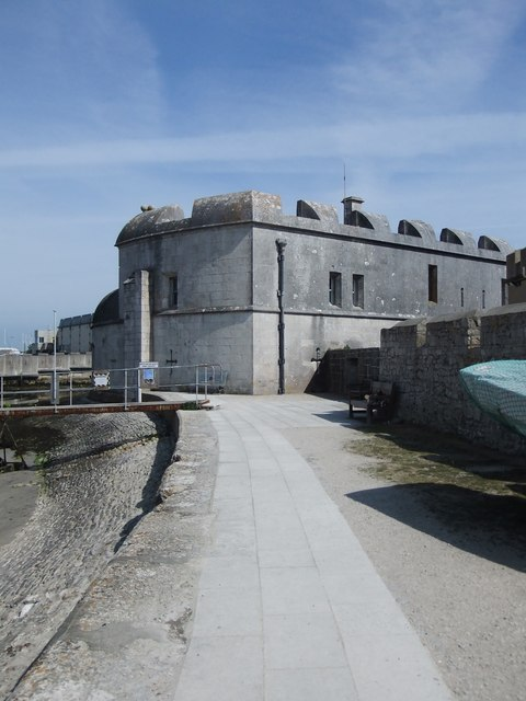 Portland Castle (2): from the north-west