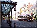 NZ2155 : Tramcar in Beamish High Street by Raymond Knapman
