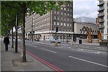TQ3078 : London : Lambeth - Albert Embankment A3036 by Lewis Clarke
