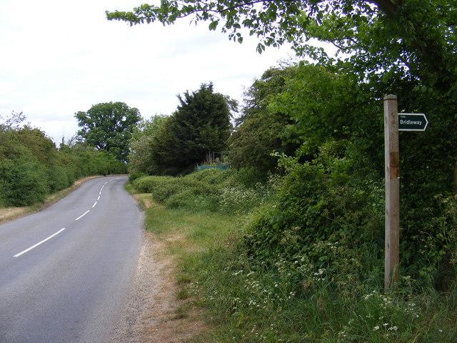 B1078 Border Cot Lane & Bridleway to Broad Road