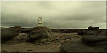 SK0787 : Kinder low trig point. by steven ruffles