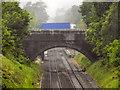 SJ8994 : Lindfield Road Bridge, Reddish by David Dixon