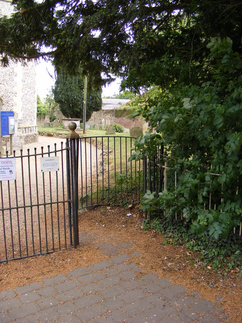 Kissing Gate at the entrance to All Saints Church