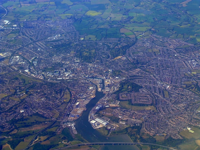 Ipswich from the air