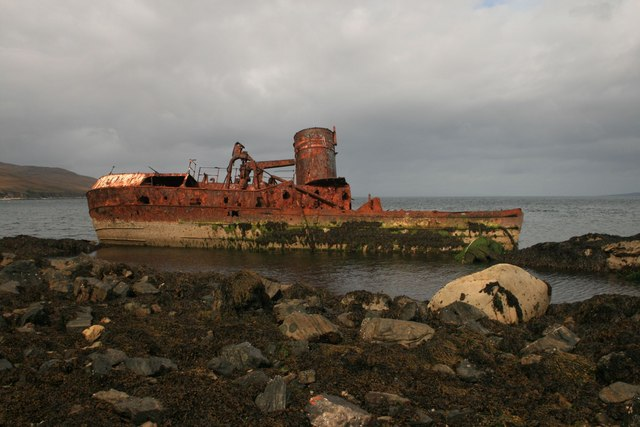 Wreck of the Wyre Majestic, Rubh' a' Mhill, Islay