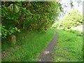 SE1621 : Railway boundary stone, Bradley by Humphrey Bolton