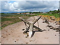 NS3477 : Broken boundary marker by Lairich Rig
