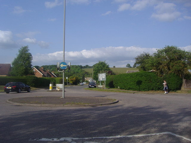 Roundabout on Ringshall Road, Dagnall