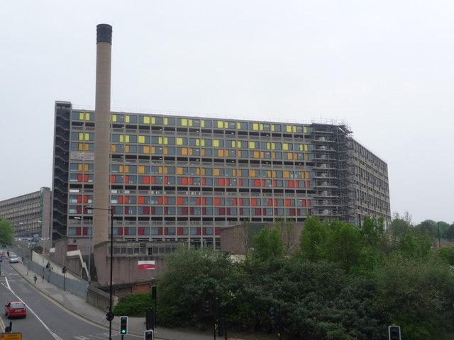 Sheffield: renovated Park Hill flats