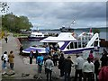NH5632 : Boats in Brachla Harbour, Loch Ness by Robin Drayton