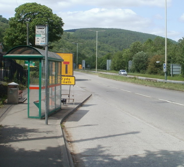 Mountain View bus stop, Caerphilly