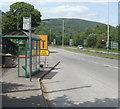 ST1588 : Mountain View bus stop, Caerphilly by Jaggery