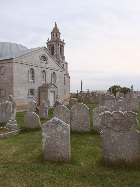 Portland: St George Reforne, church and churchyard