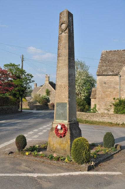 War memorial, Down Ampney