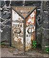 J1387 : Milepost near Antrim by Rossographer