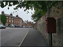 SK3825 : Castle Square postbox ref. DE73 1367 by Alan Murray-Rust