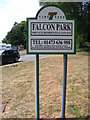 TM2445 : Falcon Park sign by Adrian Cable