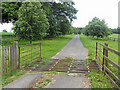 SO6886 : Cattle grid on a private road by Row17