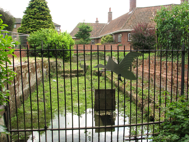 The Great Hospital, Norwich - The Swan Pit sluice