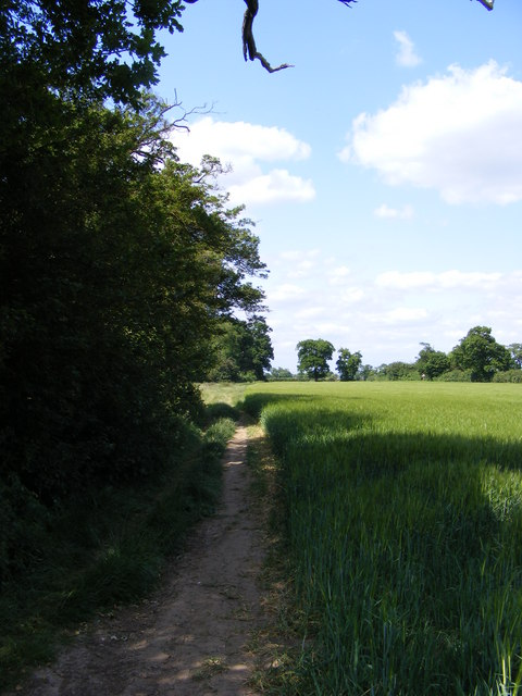 Footpath to the A12 Saxmundham Bypass & Deadman's Lane