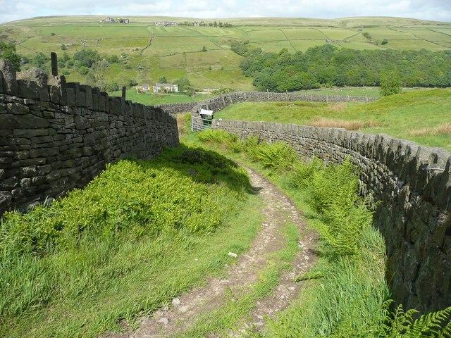 Bridleway past Goose Nest, Midgley