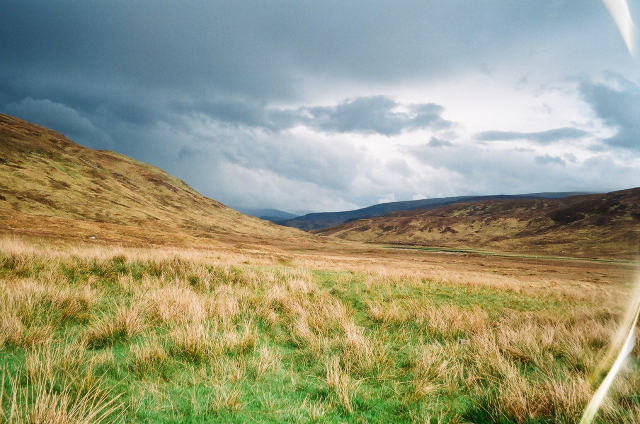 Moorland outside Meannanach Bothy