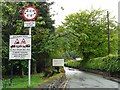 NY3307 : Sat nav warning sign, Grasmere by Rose and Trev Clough