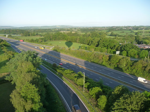 Mid Devon : M5 Motorway at Junction 27