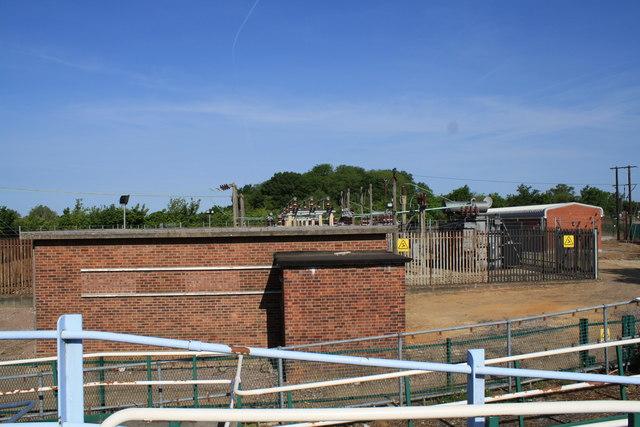Electricity sub-station near Hoveton and Wroxham Station