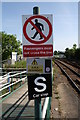 TG3018 : Railway signs at Hoveton and Wroxham Station by Glen Denny