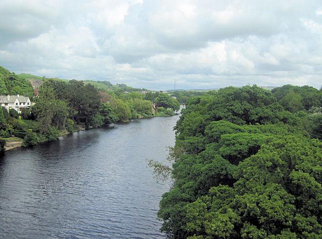 River Lune towards Halton from M6 southbound bridge