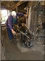 SX6494 : Finch Foundry, Sticklepath - machinery demonstration by Chris Allen
