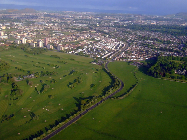 Silverknowes and Lauriston Castle from the air