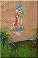 TQ2851 : St Francis ceramic, St Joseph's RC Church by Ian Capper