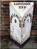 NZ3404 : Milepost, Great Smeaton by Maigheach-gheal