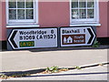 TM3555 : Roadsigns on the B1069 Woodbridge Road by Adrian Cable