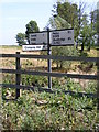 TM3454 : Roadsign on the B1069 Woodbridge Road by Adrian Cable
