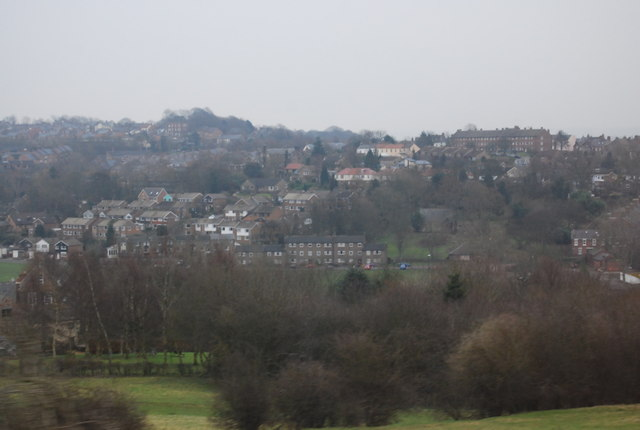 View across the Wear Valley on the edge of Durham