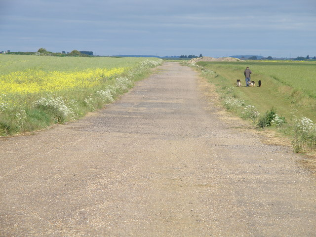 Pathfinder Long Distance Footpath on Warboys airfield