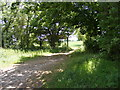 TM3365 : Field access off Low Road,Bruisyard by Geographer