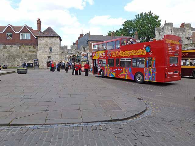 Buses at Bootham Bar