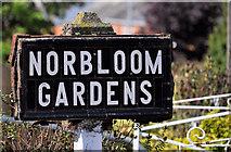 J3673 : Norbloom Gardens sign, Belfast by Albert Bridge
