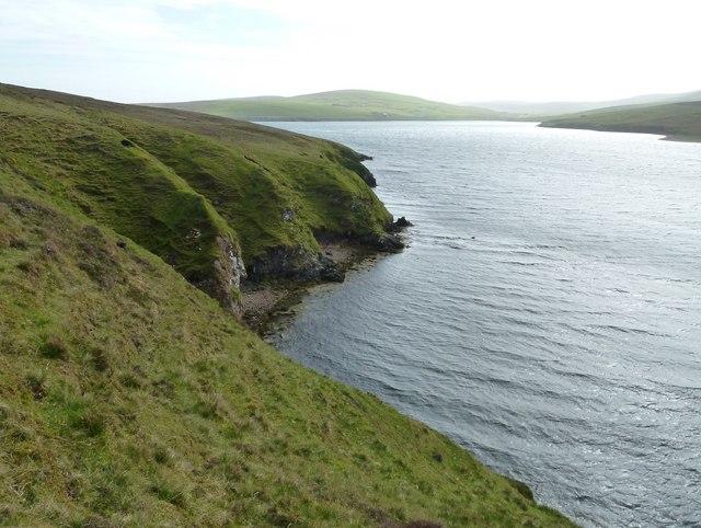 Gluss Voe shoreline